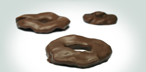 Apple Rings covered in Milk Chocolate: Absolutely Scrumptious.